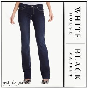 WHBM Womens Contour Boot Leg Blue Jeans
